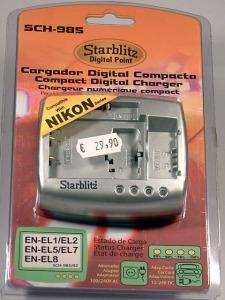 cargador baterías foto-monomarca