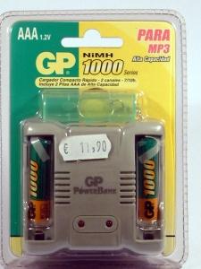 cargador pilas recargables AAA-