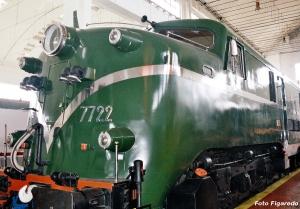 Primera locomotora eléctrica en el Museo de Monforte. Foto Figaredo, Gijón.
