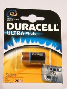 pila Duracell Ultra CR123-