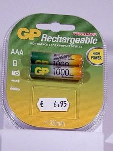pila recargable AA-1000mAh-