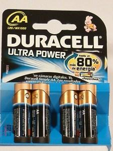 pilas Duracell Ultra AA-