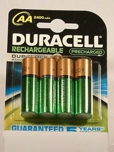 pilas recargables Duracell- Duralock AA-