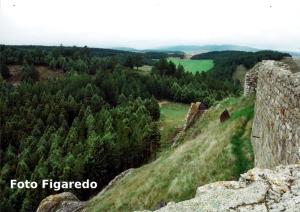 vista desde el castillo de Aguilar