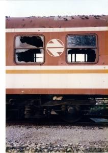 vagón abandonado en Castuera