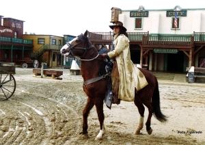 pistolero a caballo Foto Figaredo Gijón
