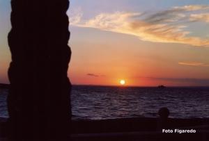 puesta de sol en el mar Foto Figaredo Gijón