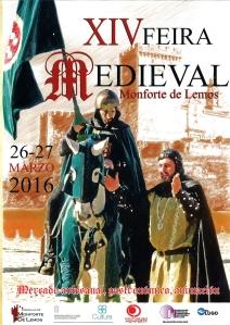 anverso cartel fiesta medieval de Monforte.