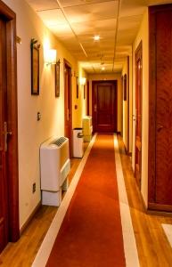 pasillo hotel Condes de Lemos en Monforte.