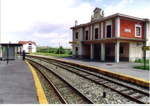 vías de FEVE. Foto Figaredo, Gijón