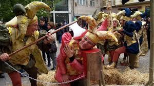 bufones en fiesta medieval de Monforte