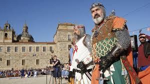 caballero en fiesta medieval. Monforte