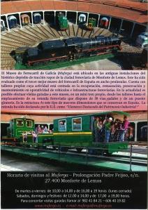 reverso del Museo del Ferrocarril de Monforte