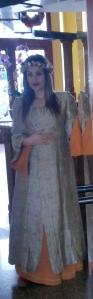 Sarai disfrazada para la fiesta medieval de Monforte