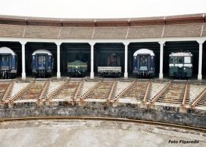 hangares para vagones. Foto Figaredo, Gijón