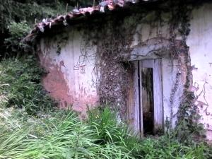 ruinas de una escuela de aldea