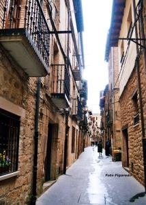 calle medieval de Laguardia. Foto Figaredo, Gijón
