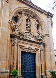 Pórtico de la Iglesia de S. Juan Bautista en Laguardia. Foto Figaredo, Gijón