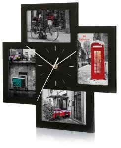 marco para 4 fotos, con reloj. Foto Figaredo, Gijón