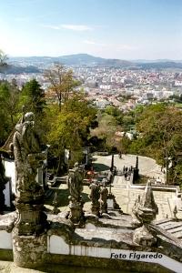 vista desde Bom Jesus do Monte. Foto Figaredo, Gijón