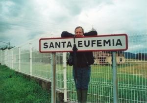 letrero carretera de Santa Eufemia en Asturias