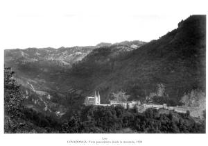 Santuario de Covadonga en 1.928. Foto de Loty
