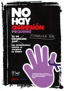 cartel del día internacional contra la violencia de género.