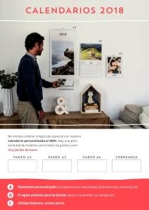 calendarios personalizados 2018 en Foto Figaredo, Gijón