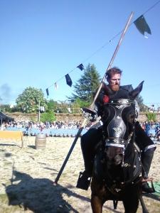 jinete en Torneo medieval. Foto Figaredo, Gijón