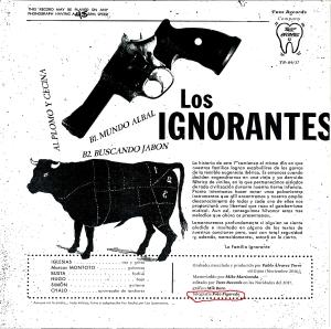 """créditos del disco """"verdades como puños""""."""