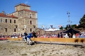 Torneo medieval en Monforte de Lemos. Foto Figaredo, Gijón