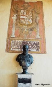 Busto del emperador Carlos I de España y V de Alemania. Foto Figaredo, Gijón