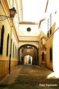 calle de Plasencia con palacio. Foto Figaredo, Gijón