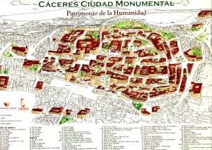Mapa de Cáceres.