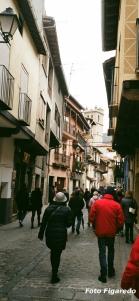 calle típica de Garganta la Olla. Foto Figaredo, Gijón