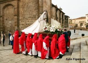 Paso de Semana Santa en Coria. Foto Figaredo, Gijón