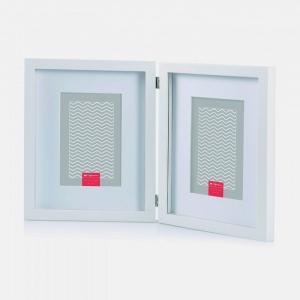 marco madera blanca para 2 fotos 10x15. Foto Figaredo, Gijón