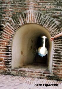 almena del Castillo de la Mota. Foto Figaredo, Gijón