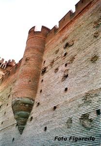fachada del Castillol de la Mota con huellas de cañonazos. Foto Figaredo, Gijón