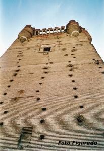 Fachada de la Torre del Homenaje en Castillo de la Mota. Foto Figaredo, Gijón