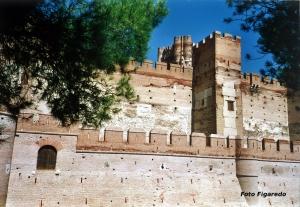 Muros del Castillo de la Mota. Foto Figaredo, Gijón