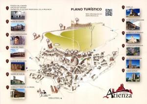 Mapa-callejero de Atienza. Turismo Atienza.