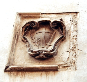 Escudo de la Inquisición. Foto Figaredo, Gijón