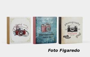 álbum fotos de estética vintage. Foto Figaredo, Gijón