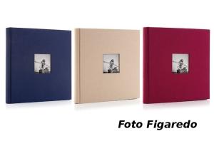 álbum fotos forrado en textil. Foto Figaredo, Gijón
