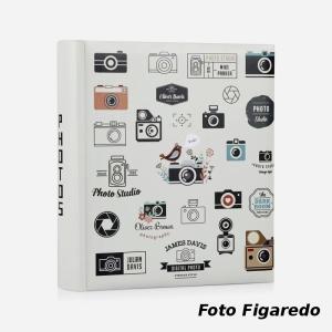 álbum para fotos de tamaños variados. Foto Figaredo, Gijón