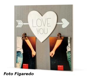 marco con corazones. Foto Figaredo, Gijón