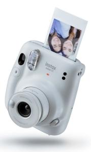 cámara instantánea blanca