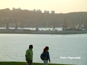 Puerto de El Musel y Campa Torres, vista parcial. Foto Figaredo, Gijón