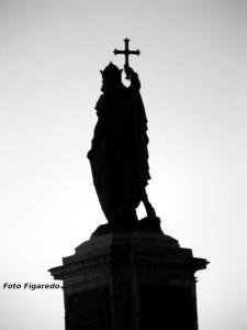 Estatua de Pelayo. Foto Figaredo, Gijón